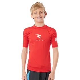 Rip Curl Corp SS UV Shirt Boys, red